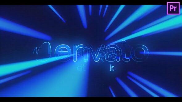 پروژه پریمیر رزولوشن 4K با موزیک  لوگو و آرم Light Tunnel Logo Reveal for Premiere Pro