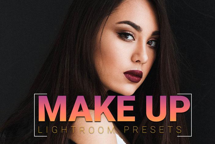 پریست لایت روم دسکتاپ تم رتوش صورت Make Up Lightroom Presets