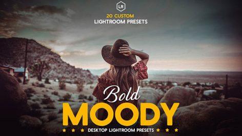 پریست لایت روم دسکتاپ تم غلظت رنگ Bold Moody Lightroom Presets