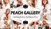 پریست لایت روم دسکتاپ و موبایل تم دخترانه Peach Gallery Lightroom Presets