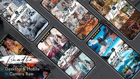 پریست لایت روم دسکتاپ و موبایل و camera raw بنام Bundle 82 Presets Lightroom Desktop And Mobile