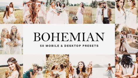 پریست لایت روم و لات رنگی تم عروسی محلی Bohemian Lightroom Presets LUTs