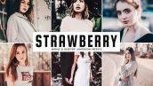 پریست لایت روم و Camera Raw و اکشن تم توت فرنگی Strawberry Mobile And Desktop Lightroom Presets