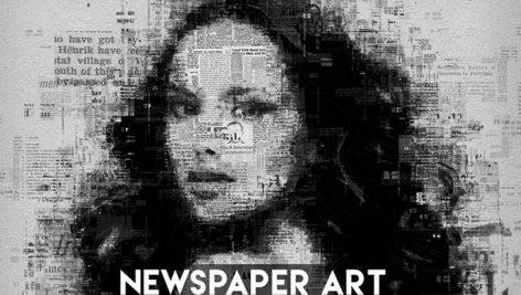 دانلود اکشن فتوشاپ تبدیل تصاویر روزنامه ای Newspaper Art Photoshop Action