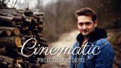 دانلود اکشن فتوشاپ رنگ های سینمایی Cinematic Photoshop Action
