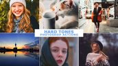 دانلود اکشن فتوشاپ کنتراست رنگ عکس Hard Tones Photoshop Actions