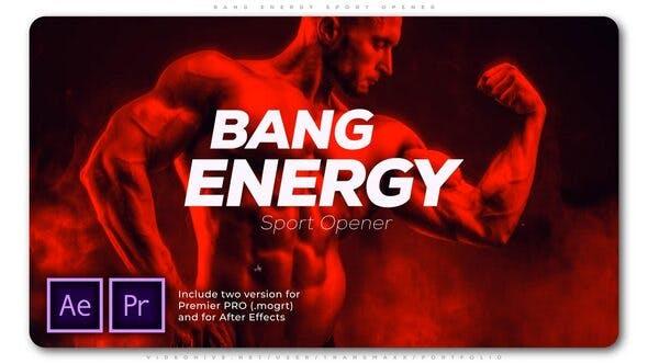 دانلود پروژه پریمیر با موزیک وله اکشن و اسپرت Bang Energy Sport Opener