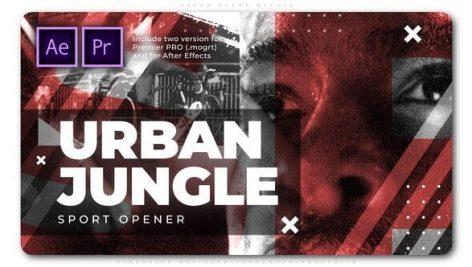 دانلود پروژه پریمیر با موزیک وله اکشن و اسپرت Urban Sport Opener