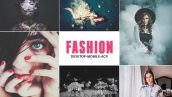 دانلود 190 پریست لایت روم دسکتاپ تم فشن Pro Fashion Collection Lightroom Preset