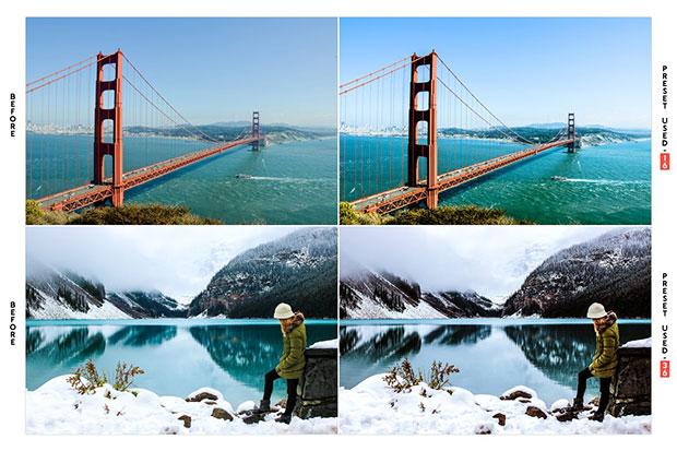 دانلود 40 پریست لایت روم تم کنتراست رنگ طبیعت HDR Landscape Lightroom Presets