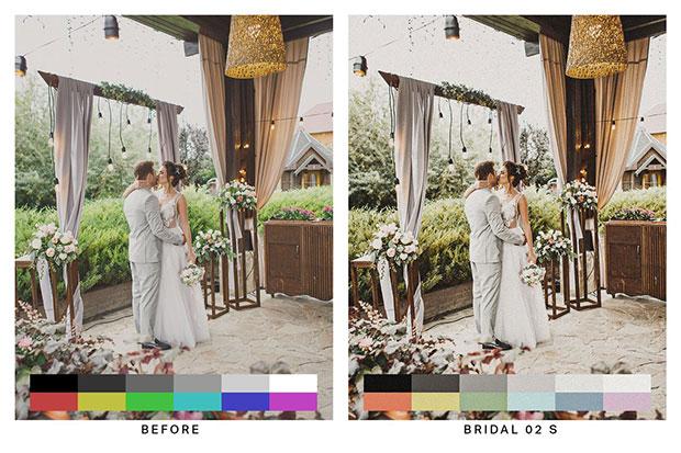 دانلود 50 پریست لایت روم و لات رنگی تم عروسی Nomad Lightroom Presets and LUTs