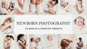 دانلود 50 پریست لایت روم و لات رنگی تم نوزاد Newborn Baby Lightroom Presets