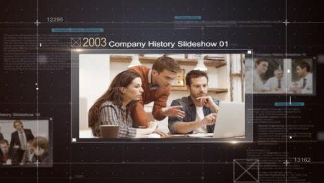 پروژه آماده افترافکت با موزیک اسلایدشو تاریخچه شرکت Company History Slideshow