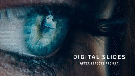 پروژه افترافکت با موزیک اسلایدشو افکت دیجیتال Digital Slides