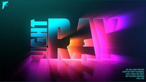 پروژه افترافکت لوگو با موزیک افکت اشعه نورانی Light Ray Logo