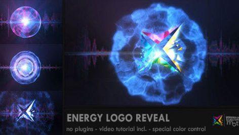 پروژه افترافکت لوگو با موزیک افکت انفجار انرژی Energy Logo Reveal
