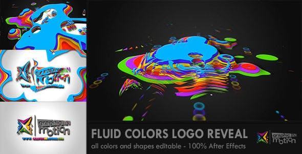 پروژه افترافکت لوگو با موزیک افکت پاشش رنگ Fluid Colors Logo Reveal