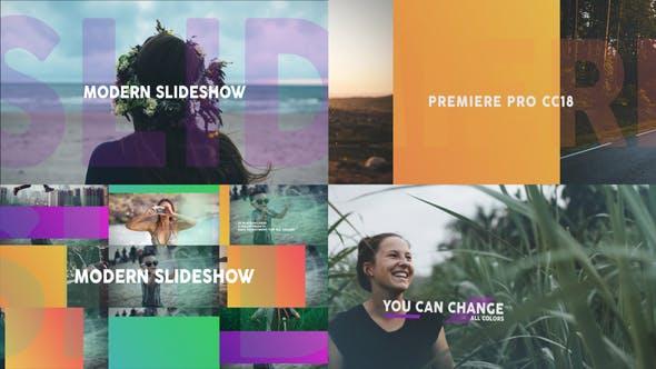 پروژه پریمیر با موزیک اسلایدشو تم مدرن Modern Dynamic Slideshow MOGRT
