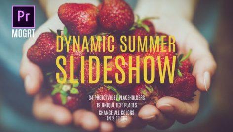 پروژه پریمیر با موزیک اسلایدشو خاطرات تابستانی Summer Dynamic Slideshow MOGRT
