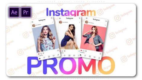 پروژه پریمیر با موزیک تبلیغات اینستاگرام Instagram Channel Promo Slideshow