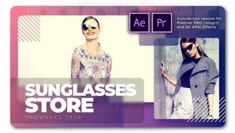 پروژه پریمیر با موزیک تبلیغات فروش ویژه سال فروشگاه Sunglasses Store Showreel