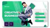 پروژه پریمیر با موزیک تبلیغات معرفی افراد شرکت Creative Business Team Slideshow