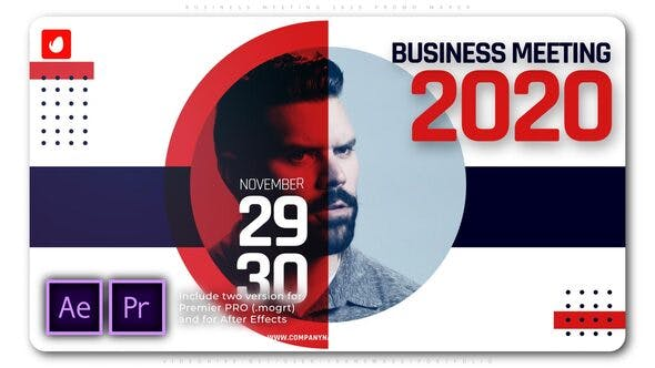 پروژه پریمیر با موزیک تبلیغات معرفی شرکت Business Meeting 2020 Promo Maker