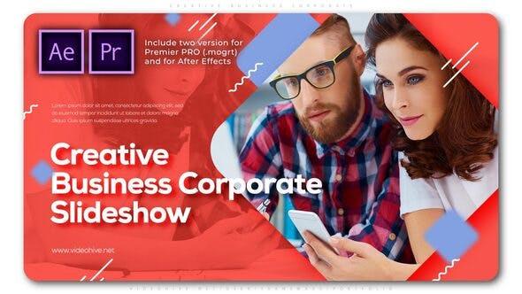 پروژه پریمیر با موزیک تبلیغات معرفی شرکت Creative Business Corporate