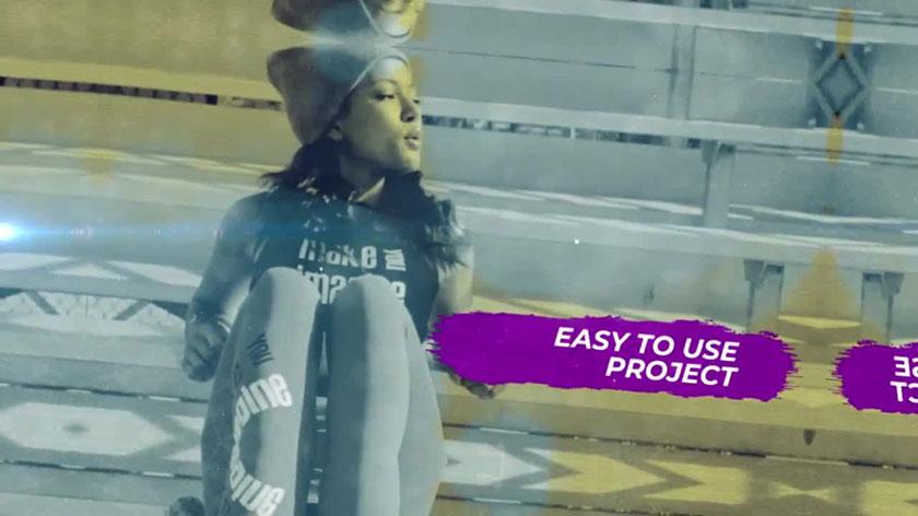 پروژه پریمیر با موزیک تیتراژ با افکت فریز و پاشش جوهر Ink Freeze Frame Promo