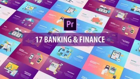 پروژه پریمیر با موزیک رزولوشن ۴K و ۸K تبلیغات بانک Banking and Finance Flat Animation MOGRT