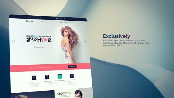 پروژه پریمیر با موزیک معرفی وب سایت Project Web Collection Slides For Promo