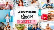 پریست لایت روم دسکتاپ و موبایل تم تعطیلات تابستانی BLOOM Lightroom Presets