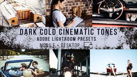 پریست لایت روم دسکتاپ و موبایل تم سینمایی تیره Dark Cinematic Lightroom Presets