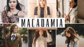 پریست لایت روم و پریست کمرا راو تم رنگ فندقی Macadamia Lightroom Presets Pack Graphic