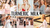 پریست لایت روم و پریست کمرا راو تم سفید و زرد Turmeric Milk Lightroom Presets Pack