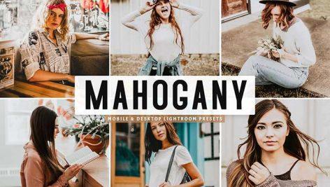 پریست لایت روم و پریست کمرا راو تم قهوه ای و قرمز Mahogany Lightroom Presets Pack