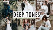پریست لایت روم و Camera Raw و اکشن تم رنگ عروسی Deep Tones Mobile And Desktop Lightroom Presets