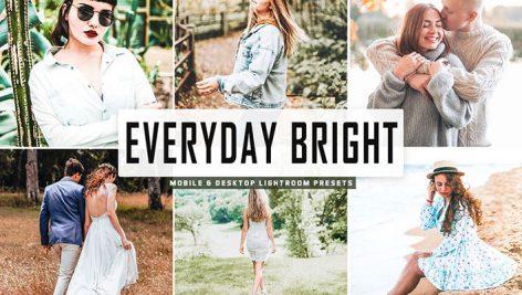 پریست لایت روم و Camera Raw و اکشن تم روز آفتابی Everyday Bright Mobile And Desktop Lightroom Presets
