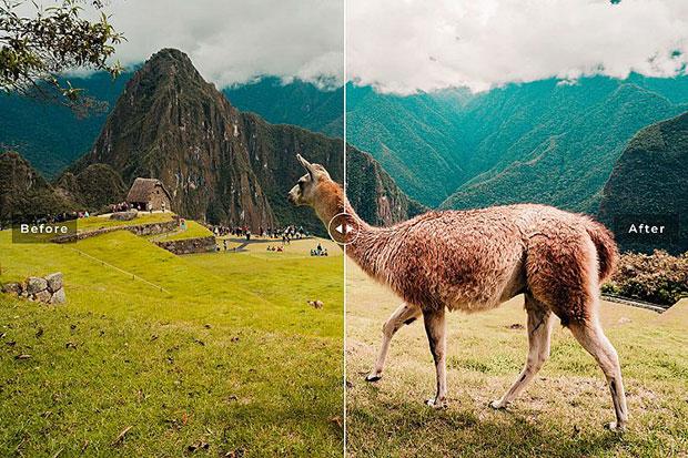 پریست لایت روم و Camera Raw و اکشن تم سفر Machu Picchu Mobile And Desktop Lightroom Presets