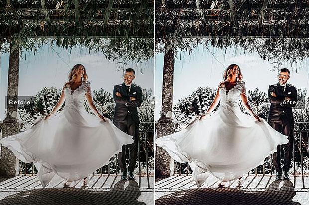 پریست لایت روم و Camera Raw و اکشن تم عروسی روستایی Rustic Wedding Mobile And Desktop Lightroom Presets