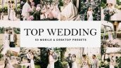 50 پریست لایت روم و لات رنگی LUTs عروسی Top Wedding Lightroom Presets