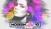 اکشن فتوشاپ ایجاد افکت هنری مدرن Modern Art Photoshop Action v2