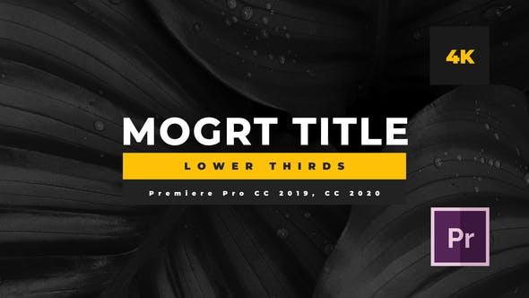 تایتل آماده پریمیر رزولوشن 4K پکیج 14 عددی Minimal Mogrt Lower Thirds