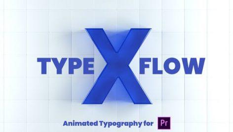 تایتل آماده پریمیر رزولوشن 4K پکیج 80 عددی X-Type Flow Premiere Pro