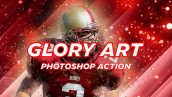 دانلود اکشن فتوشاپ نقاط نورانی Glory Art Photoshop Action