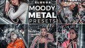 دانلود پریست لایت روم تم رنگ فلز Moody Metal Presets Mobile and Desktop Lightroom