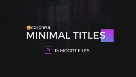 دانلود 16 تایتل آماده پریمیر با تم رنگی Colorful Minimal Titles For Premiere Pro