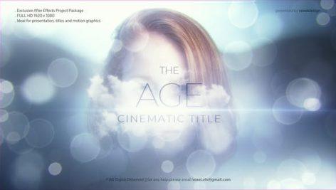 پروژه آماده افتر افکت تیزر تبلیغاتی مدرن The Age Cinematic Title