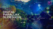 پروژه آماده پریمیر اسلایدشو با موزیک تم انطباق دیجیتالی Digital Parallax Slideshow