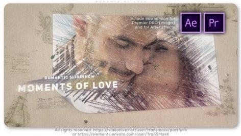 پروژه آماده پریمیر اسلایدشو با موزیک مخصوص آتلیه Moments of Love